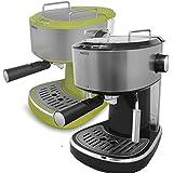 Máquina de Café Espresso Capuchino Máquina de Espresso ~ Vaporizador ~ 2 tazas posible tanque de agua 1.0L 15 bar 850 vatios (Verde)