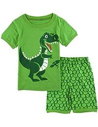 Mombebe Pigiama Bambino Ragazzo Dinosauro Estate Abbigliamento Set 6e307e4ac60