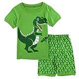 Mombebe Jungen Schlafanzug Dinosaurier Pyjamas Set Kurzarm Sommer Nachtwäsche