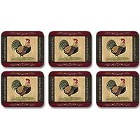 Jason D2125 Cottage Rooster Coasters, Set of 6