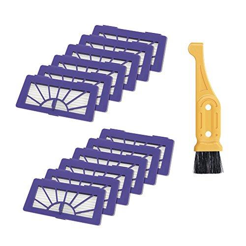 turpow Staubsauger Filter 12?PCS f?r Neato Robotic Pet und Allergie Filter Pack XV-(945?0048) Filter & Free Filter Reinigungsb?rste Werkzeug (Pet Pack Staubsauger)