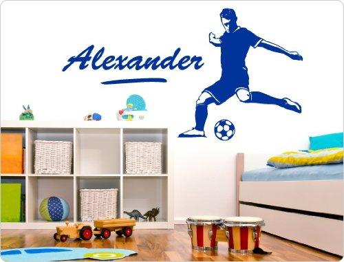 dekodino Wandtattoo Fußballer mit Name