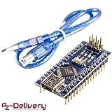 AZDelivery ????? Nano V3.0 CH340 verlötete Version mit USB Kabel mit gratis eBook! 100% Arduino kompatibel