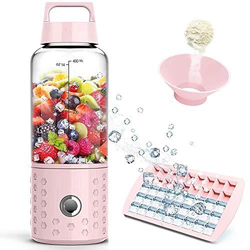 Lincjly Tragbarer Mixer, Smoothie-Mixer, USB-Entsafter, 17 Unzen Fruchtmischmaschine, 500 ml, abnehmbare Tasse, Geschenke for Frauen, Perfekter Mixer for den persönlichen Gebrauch (FDA, BPA-frei)