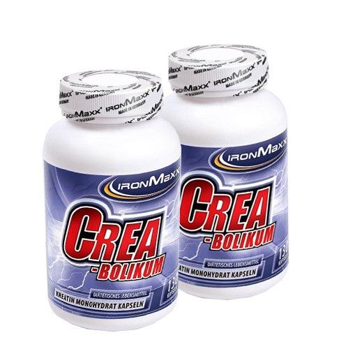 Ironmaxx 100% Creatin Monohydrat - Creabolikum ( 2 x 130 Kapseln = 260 Kapseln )