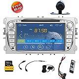 7-Zoll-Digital-Bildschirm- Bluetooth Auto-DVD-Spieler GPS navi Autoradio Radio für Ford Focus 2008-2010 Fast 800-MHz-CPU Integriert Bluetooth FM AM-Radio iPod Audio-Steuergerät + 8GB Standard-GPS-