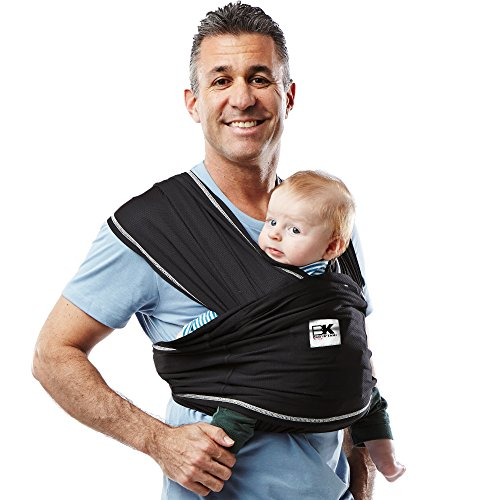 Baby K'tan Active Baby Carrier (Small, Black)  Baby K'Tan