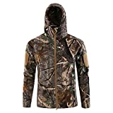 Super Amos Herren Taktische Softshell Jacke wasserdichte Militaer,Outdoor Winddicht Fleece...
