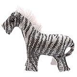 Sandtier Zebra 13 cm lang Stofftier Kuscheltier