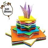 Ankamal Elec Origami-Papier - 920 Blatt Origami Papier Doppelseite Bastelpapier Origami Faltpapier Buntes Quadratisch für Origami und Bastelprojekte