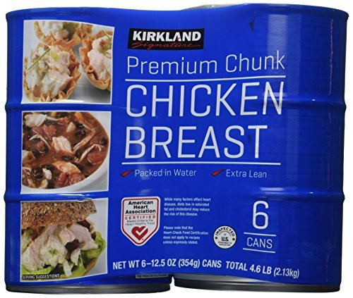 Kirkland Signature chicken breast, packed in water, premium chunk, 6 12.5-ounce cans by Kirkland Signature