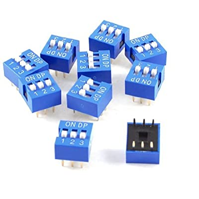 Water & Wood 10 Pcs Blue Double Row 6 Pin 3 Positions 2.54mm Pitch DIP Switches von Water & Wood bei Heizstrahler Onlineshop