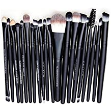 fenguh 20pcs Polvo Fundación Conjunto de Cepillos Brochas de Maquillaje Cosmético Profesional Makeup Eyeshadow Eyeliner Lip Brush Tool--20pcs