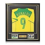 Exclusive Memorabilia Brasilien 2004-06 Shirt von Ronaldo Luís Nazário de Lima unterzeichnet. Eingerahmt