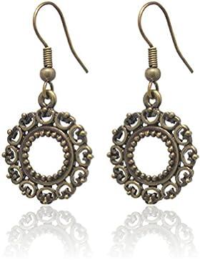 2LIVEfor Traumhafte Ohrringe Ethno Tropfen verziert Tibet Ohrringe Bohemian Vintage Ohrringe Hängend Antik Gold...