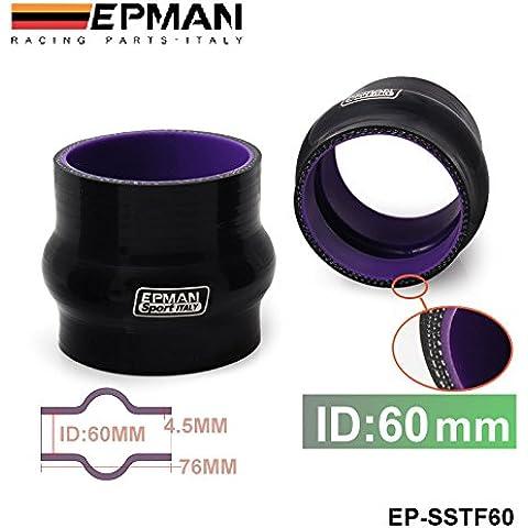 """lesilverskys (TM) autofab–epman 23/8""""60mm in silicone Hump Hose–Connettore A soffietto in silicone gomma accoppiatore tubo dritto tubo ep-sstf60"""