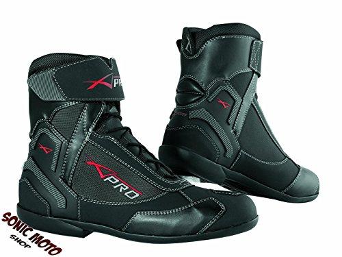 Wasserdichte Schuhe Motorrad Stiefel Sport Touring Roller A-Pro Schwarz 42