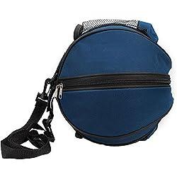 SUPER-BAB - Bolsa deportiva de entrenamiento con correa para el hombro para guardar el balón de fútbol, nailon, ideal para los accesorios de fútbol, voleibol o baloncesto, azul oscuro
