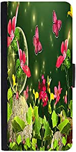 Snoogg Fireflies And Butterflies 2629 Designer Protective Phone Flip Case Cover For Oneplus Two