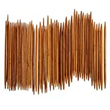 Demiawaking 55Pcs 11 Größen Doppel Bambus Stricknadeln (55Pcs)