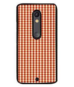 PrintVisa Designer Back Case Cover for Moto X Force (graph style check perfect combination)