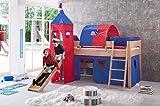 Erst-Holz 60.24-09 - Letto a soppalco per Bambini, in Legno di faggio Massiccio, 90 x 200 cm