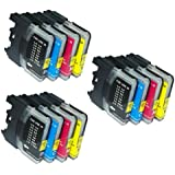 UCI BI lc985 [ 12 tinta = 3 x Set ] Compatible tinta cartuchos reemplazo For Brother DCP J125, Brother DCP J315W, Brother DCP J515W, Brother MFC J265W, Brother MFC J410, Brother MFC J415W, impresora, Brother lc985, lc985BK, lc985C, lc985M, lc985Y,