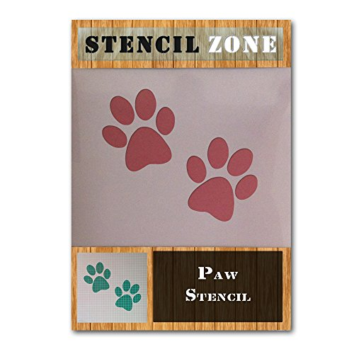 Dog Cat Animal Pet Paw Print Mylar Airbrush Malerei Wand Crafts Schablone drei A6 Size Stencil - XXSmall