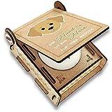 CANDLE in the BOX Trauerkerze Hund mit Spruch | Personalisierte Gedenkkerze mit Foto und mit Namen | Gedenklicht Hund für Zuhause mit Gravur (Golden Retriever)