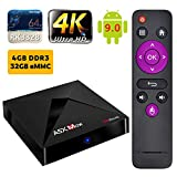 SUNNZO A5X MAX Android 9.0 TV Box / Streaming Media Player con RK3328 Quad-Core Chips,4GB RAM+32GB eMMC, WiFi, 4K, BT 4.0,H.265 (4+32G)