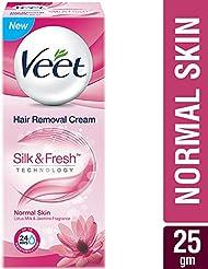 Veet Silk & Fresh Hair Removal Cream, Normal Skin - 25 g