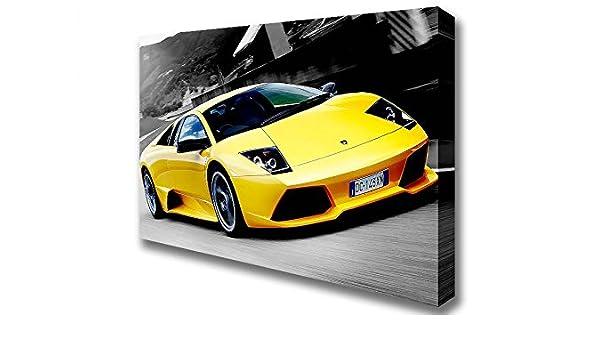 Cars Lamborghini On The Road Canvas Art Prints Double Xl 40 X 56