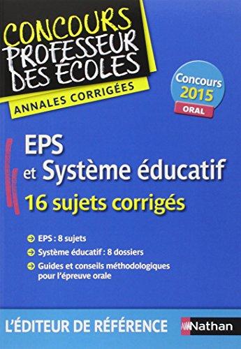EPS et Système éducatif / Admission 2015