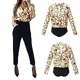 Damen Bluse Sexy, Mode Glänzend Pullover Slim Fit V-Ausschnitt Shirt Langen Ärmeln Streewear T-Shirt für Bühnenperformance von ABsoar