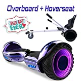COLORWAY Overboard Hover Scooter Board Gyropode Bluetooth SUV 6.5 Pouces, Scooter Electrique Moteur 700W Tout-Terrain, Self-Balance Board avec Roues LED Flash + Hoverkart (Violet LED)