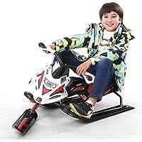 Gaozh Trineo Motocicleta De Hierro para Niños En Invierno