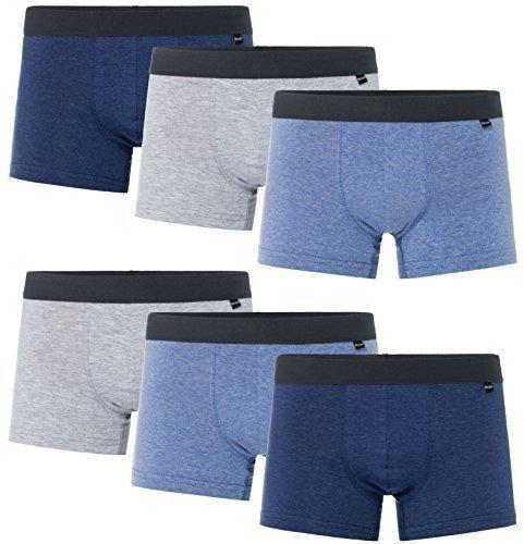 MioRalini 6 PREISWERTE softe weiche und bedruckte Elastische Boxershort Herren - Pants (Grösse 2XL-8 - 6 Shorts 05 ) Damen-unterwäsche Jungen, Shorts Pack