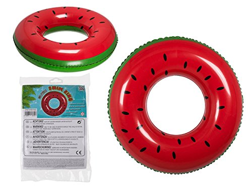 Gadget Giant® Giant Gonflable Watermelon Bague de Natation Air Matelas Plage Piscine Rubber Toy Flotteur Transat Raft - Fait de Premium PVC Forte Matériau - (82cm)
