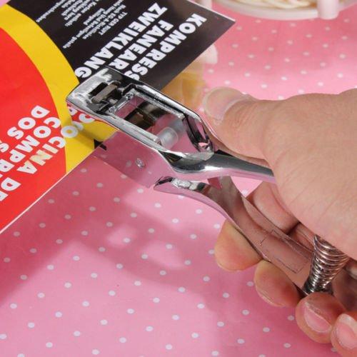 Generic NV _ 1001005861_ yc-uk2toolpun Photo Carta slot metallo mano o Pap foro punzonatrice DGE H-Utensile Tag ID card Unch Distintivo in metallo h - Distintivo Punch