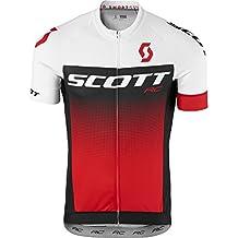 Scott RC Pro bicicleta camiseta corta Blanco/Rojo 2017, primavera/verano, hombre, color blanco y rojo, tamaño S