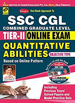 Kiran's SSC CGL Tier – II Online Exam Quantitative Abilities with CD - 2019 by [Think Tank of Kiran Prakashan & KICX]