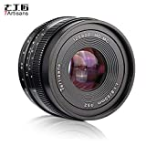 TOPTOO 7artisans 50mm F1.8 Lente de la cámara de Enfoque Manual Gran Apertura para Fujifilm Fuji X-A1 / X-A10 / X-A2 / X-A3 / X-AT/X-M1 / X-M2 / X-T1 / X-T10 / X-T2 / X-T20 / X-Pro1 / X-Pro2 / X-E1
