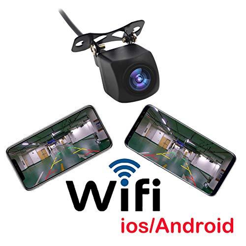 Videocamera per auto, telecamera per retromarcia, retrocamera con wifi, da connettere allo schermo dell'iphone o di smartphone con sistema android