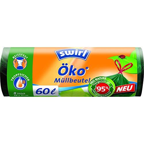Swirl 60 l sacchi Bio immondizia con coulisse, 6er Pack (6 x 8)