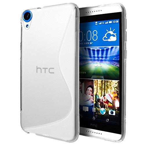 HTC Desire 820G Plus case, Ziaon(TM) Silicone S-Line Hybrid TPU Soft Gel Back Cover Case for HTC Desire 820G Plus - Semi Transperant