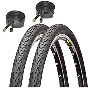 Duro Cordoba 700 x 38c Bike Tyres with Schrader Tubes (Pair)