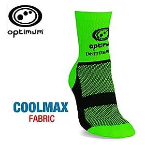 Optimum Men's Nitebrite Hi-Viz Winter Cycling Socks-Fluro, Fluorescent Green, Size 3-6