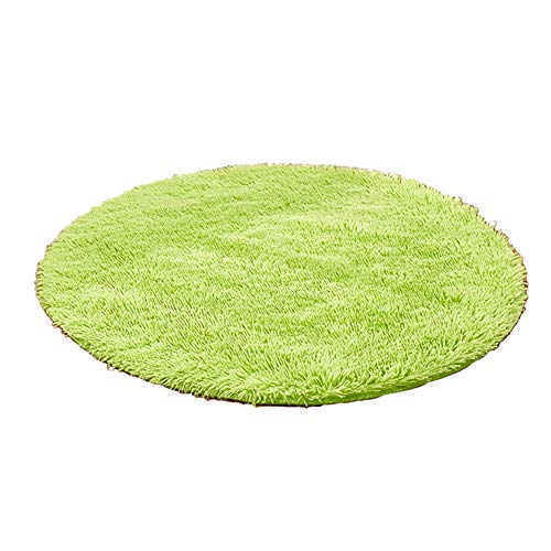 Ouken tappeto rotondo tappeto morbido per soggiorno camera da letto cameretta bambini nursery(verde) 1pc