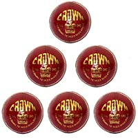 / Rouge Lot de 6 Splay Cricket Balle de Tennis/