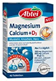 Abtei Magnesium Calcium+D3 Depot Tabletten, 42 St